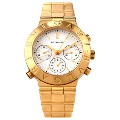 Bvlgari Diagono 18 Karat Gold Pro Terra Rattrapante Ref CH40GL Men's Watch