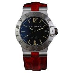 Bvlgari Diagono 18 Karat White Gold Automatic Wristwatch, circa 2000
