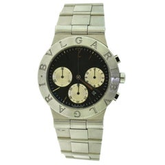 Bvlgari Diagono CH 35 S Stainless Steel Black Dial Sports Watch