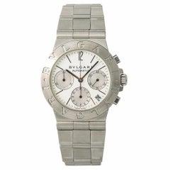 Bvlgari Diagono Chronograph CH 35 S Men's Automatic Watch White Dial SS