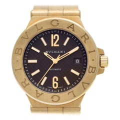 Bvlgari Diagono DG40G, Brown Dial, Certified and Warranty