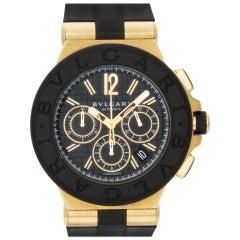 Bvlgari Diagono DG42BGVDCH 18 Karat Black Dial Automatic Watch