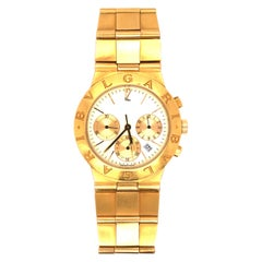 Bvlgari Diagono Scuba 18 Karat Yellow Gold Chronograph Automatic Watch