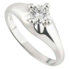 Bvlgari Diamond 1/3 0.33 Carat Round Cut Platinum Solitaire Bulgari Ring D VVS1