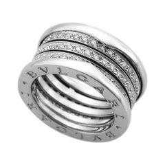 Bvlgari Diamond 18 Karat White Gold B Zero1 4 Band Ring