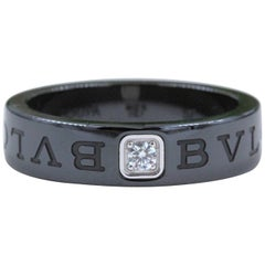Bvlgari Diamond and Black Ceramic Band Mod: 350504 Ref: AN857211