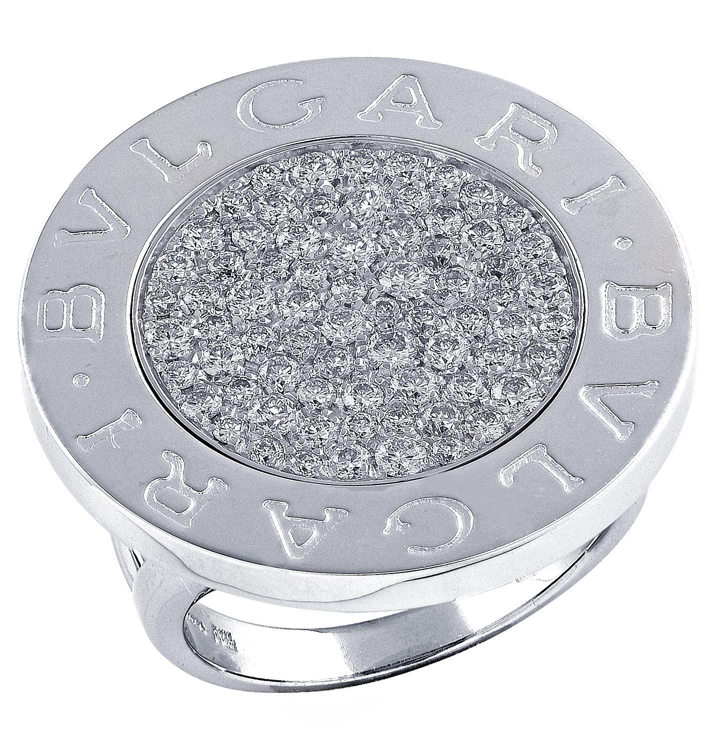 Bvlgari Diamond White Gold Ring