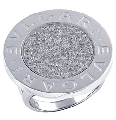Bvlgari Diamond White Gold Ring