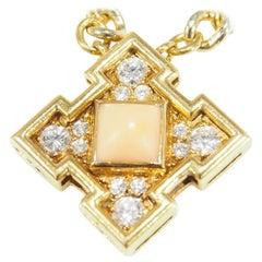 Bvlgari Diamond Coral Necklace Yellow Gold 18 Karat