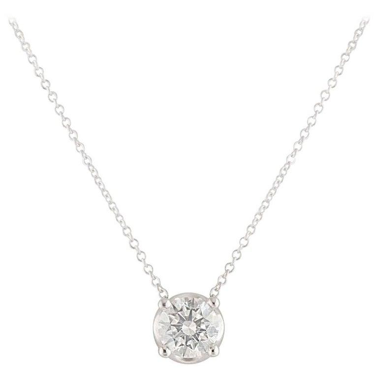 Bvlgari Diamond Corona Necklace 1.02 Carat GIA Certified For Sale