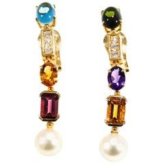 Bvlgari Diamond Earrings Allegra Collection Gemstone 18 Karat