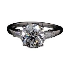 Bvlgari Diamond Engagement Ring, Platinum 2.02 Carat