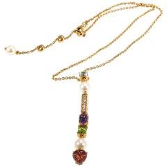 Bvlgari Diamond Necklace Allegra Collection Gemstone 18 Karat