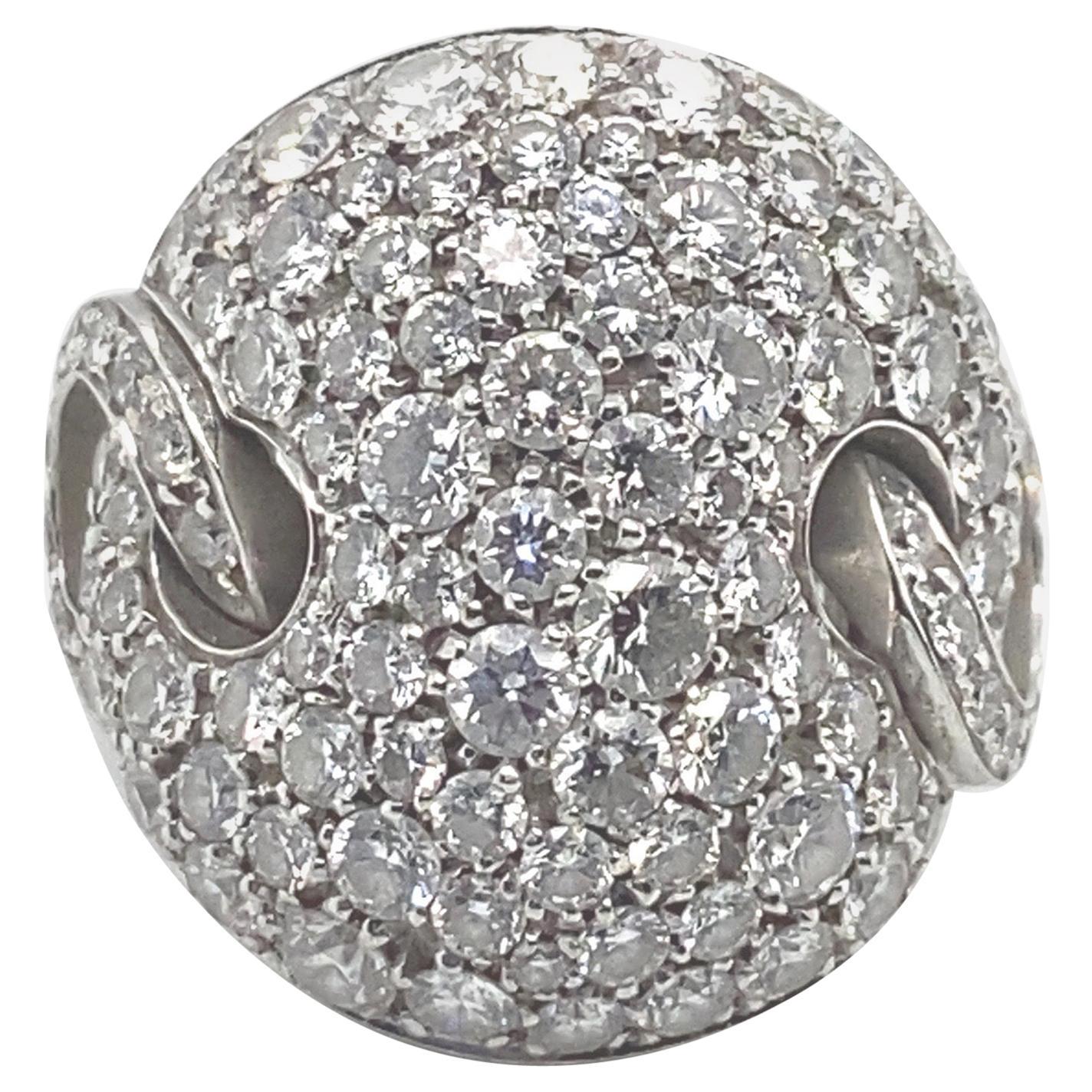 Bulgari Diamond Pave Cocktail Ring