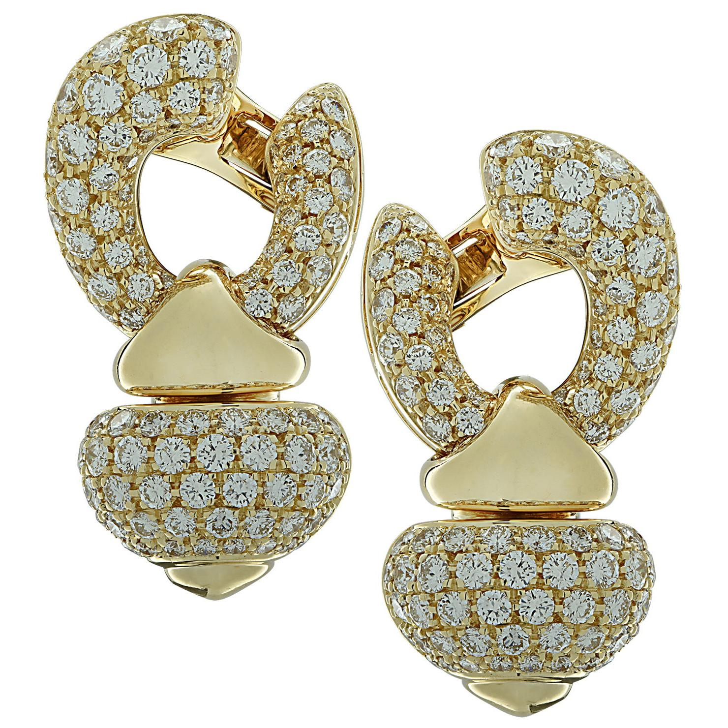 Bvlgari Diamond Pigne Ear Clips