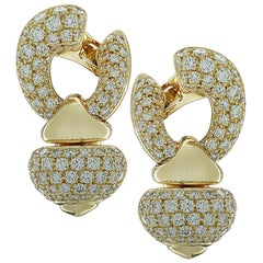 Bvlgari Diamond Pigne Ear Clips