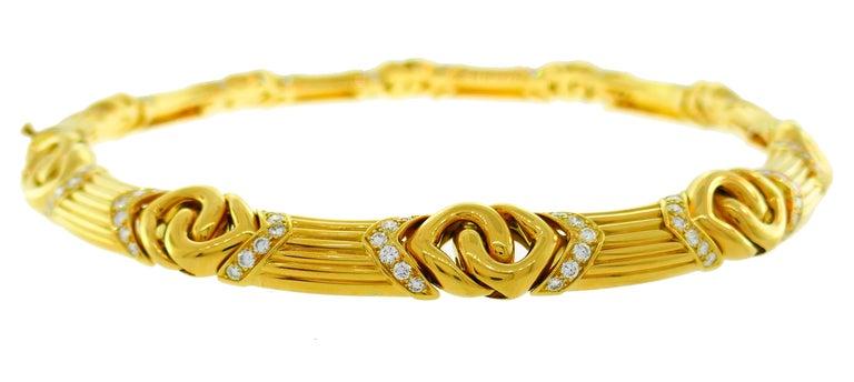 Bvlgari Diamond Yellow Gold Necklace Bulgari For Sale 1