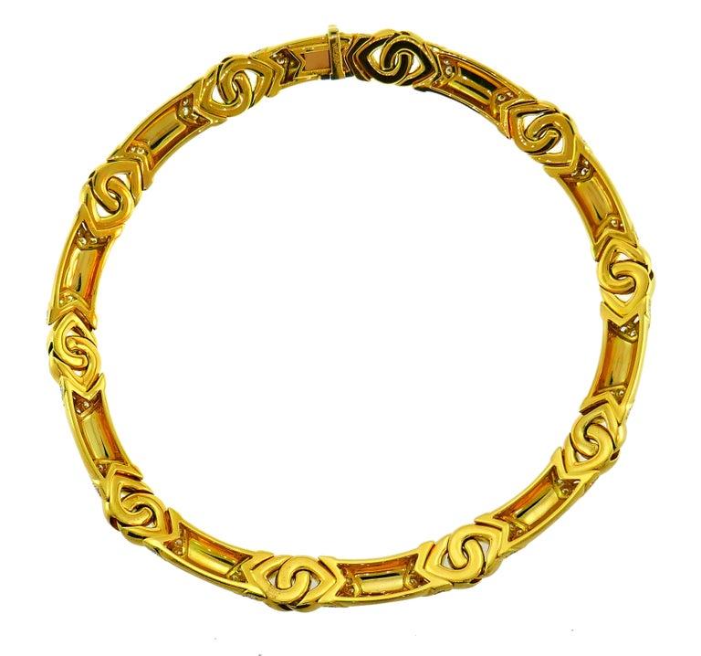 Bvlgari Diamond Yellow Gold Necklace Bulgari For Sale 2