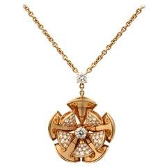 Bvlgari Diva's Dream 18 Karat Rose Gold Diamond Pendant Necklace