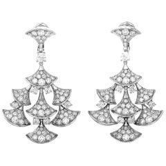 Bvlgari Divas' Dream 18 Karat White Gold 7.95 Carat Diamond Earrings