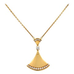 Bvlgari Diva's Dream 18 Karat Yellow Gold Diamond Pendant Necklace