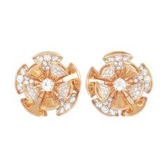 Bvlgari Divas Dream 18K Rose Gold 2.60 Ct Diamond Earrings