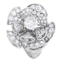 Bvlgari Divas' Dream 18k White Gold 5.40 ct Diamond Ring