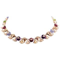 Bvlgari 'Diva's Dream' Multi-Gemstone and Diamond Necklace