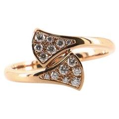 Bvlgari Divas Dream Ring 18K Rose Gold with Diamonds