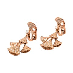 Bvlgari 'Divas' Dream' Rose Gold and Diamond Earrings