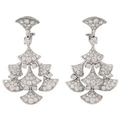 Bvlgari 'Divas' Dream' White Gold and Diamond Earrings