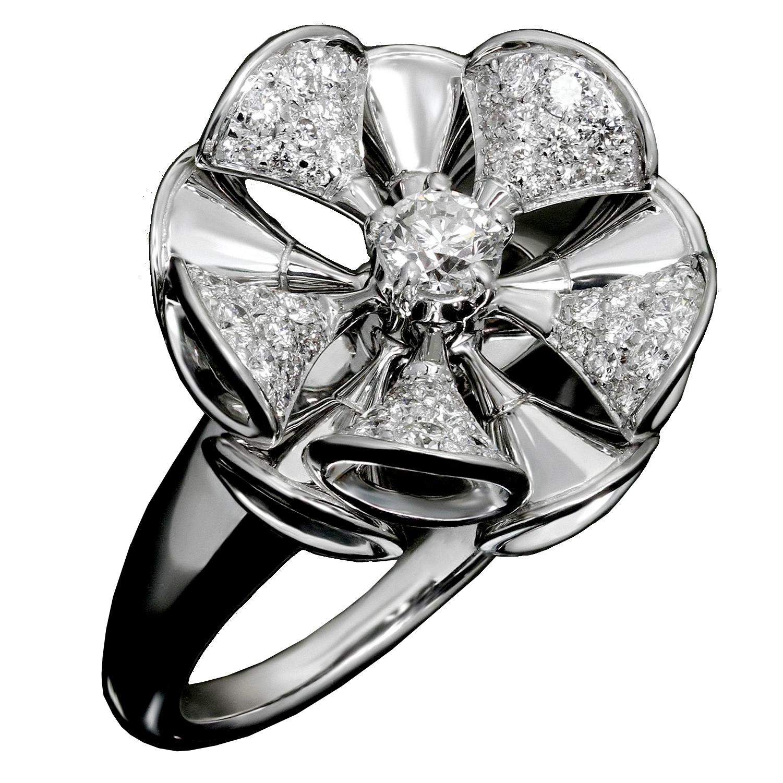 Bvlgari Divas Dream White Gold Diamond Cocktail Ring