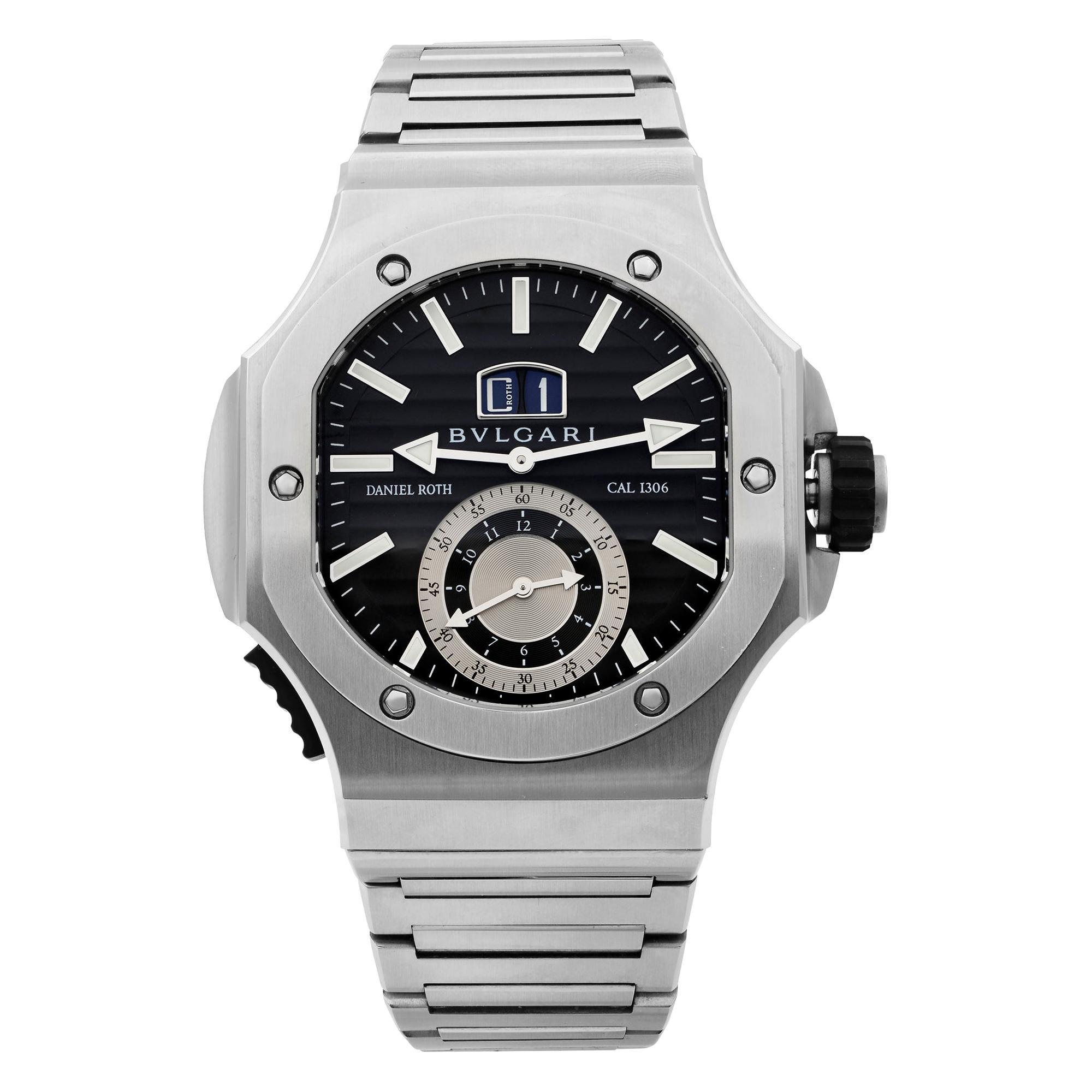 Bvlgari Endurer Chronosprint Daniel Roth Black Dial Automatic Men's Watch 101877