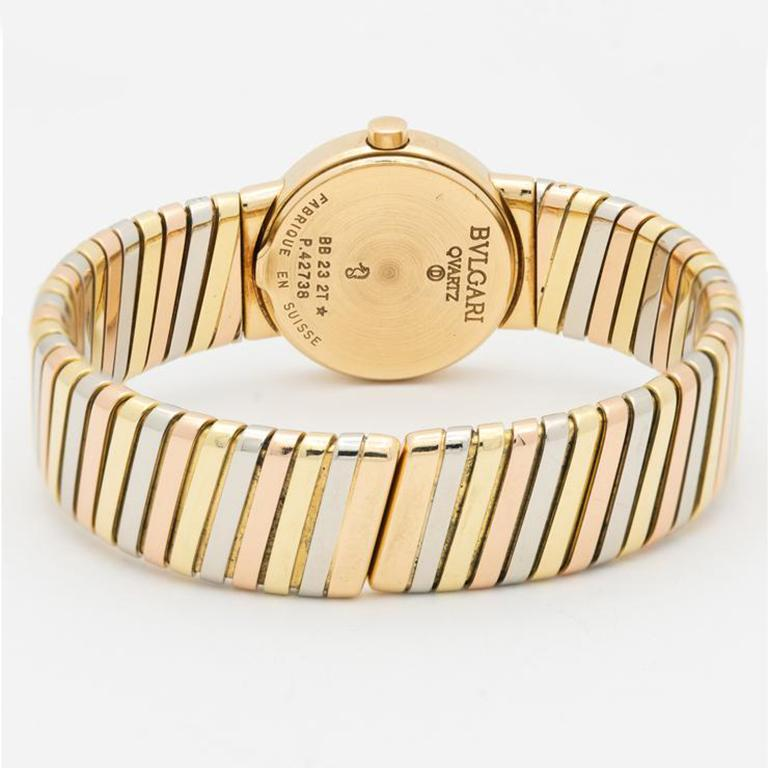 Bvlgari Gold Tricolor Tubogas Bb232t In Excellent Condition In New York, NY