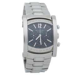 Bvlgari Grey Stainless Steel Assioma Automatic AA44SCH Men's Wristwatch 44 MM
