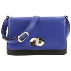 Bvlgari Icona Shoulder Bag Leather Medium