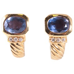 Bvlgari Iolite Diamond Yellow Gold Earrings