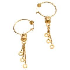 Bvlgari Ladies 18 Karat Yellow Gold Earrings