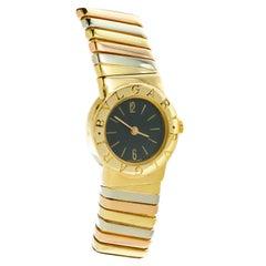 Bvlgari Ladies Thri-Color Gold Tubogas Wristwatch