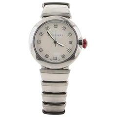 Bvlgari LVCEA Automatic Watch Stainless Steel with Diamond Indicators