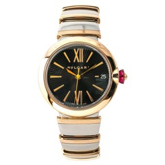 Bvlgari Lvcea LUP 33 SG Ladies Automatic Watch 18k Rose Gold Two Tone