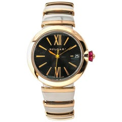 Bvlgari Lvcea LUP 33 SG Womens Automatic Watch 18 Karat Gold Two-Tone