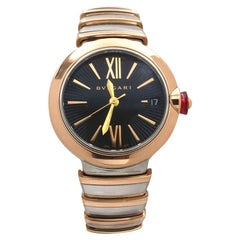Bvlgari LVCEA Stainless Steel and Rose Gold Watch