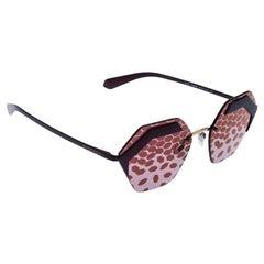 Bvlgari Matte Patterned Mirror 6103 Serpenteyes Geometric Sunglasses