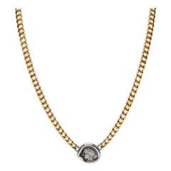Bvlgari Monete Gallia Ancient Coin Necklace in 18 Karat Yellow Gold