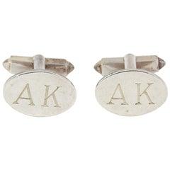 Bvlgari Monogram Silver Cufflinks