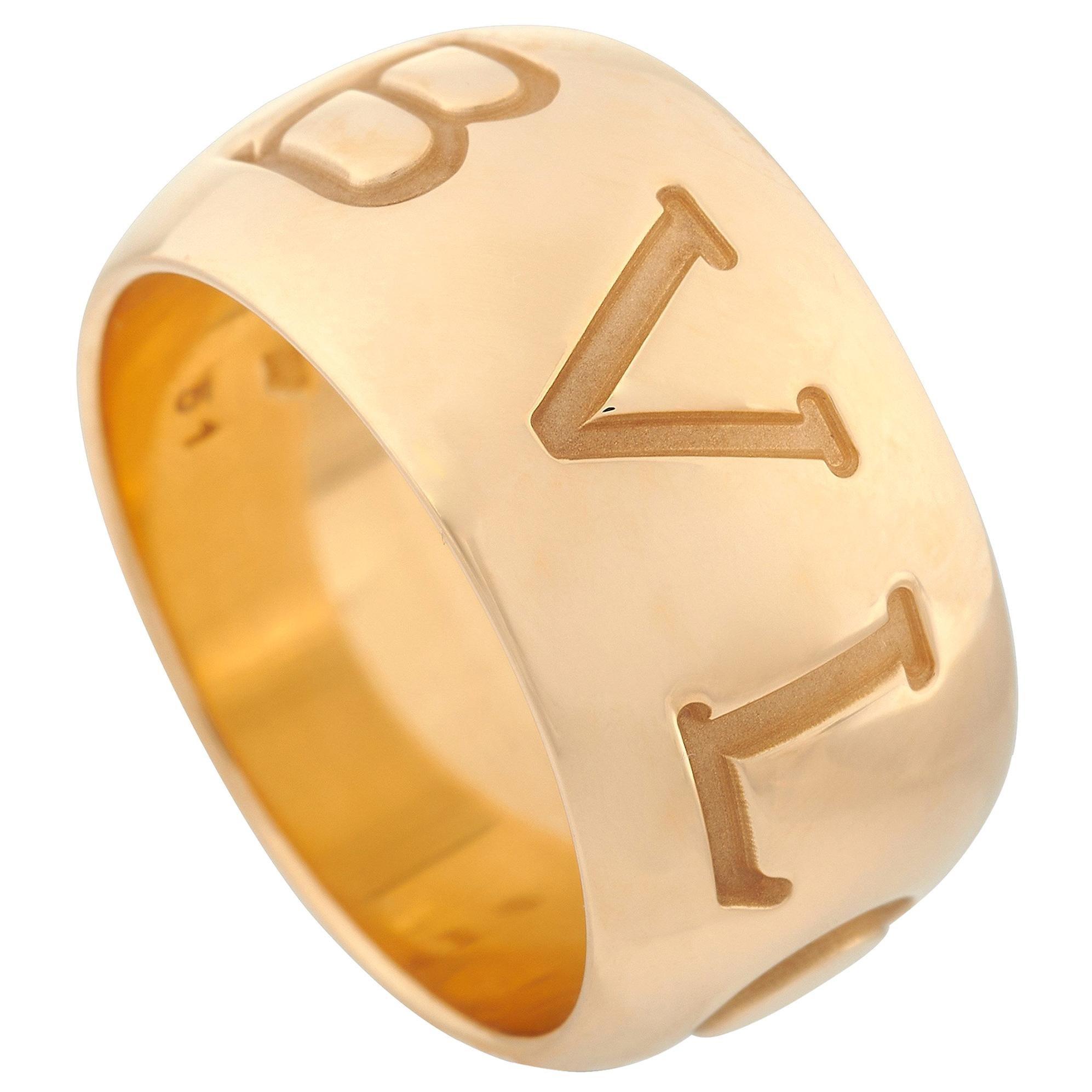 Bvlgari Monologo 18 Karat Yellow Gold Ring