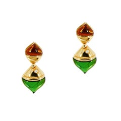 Bvlgari Naturalia Yellow Gold Drop Earrings