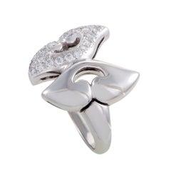 Bvlgari Nuvole Women's Platinum Diamond Pave Ring