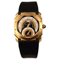 Bvlgari Octo 18k Pink Gold Quadri Retro Gerald Genta Watch